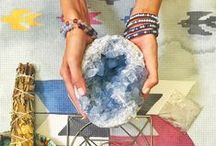 Create a Sacred Space / Create a sacred space in your home that is just for you! Choose your favorite crystals and little things that lift your mood and connect you with your spirituality. This creates a special place for setting intentions.