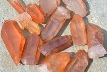 """Orange Crystals and Stones / Orange gemstones stimulate creativity, increase enthusiasm, accentuate personal power and bring confidence. When going through a period of change in your life, they are believed to make you more adaptable to change, helping you to """"go with the flow."""" If you are feeling as if you need to spice things up in your life, add a few orange crystals to your life to boost your creative juices. Orange stones are also associated with the sacral chakra, making them very powerful for sacral chakra healing."""
