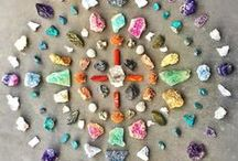 Crystal Grids / Crystal grids transform the energy of a space. The energy of the stones work together in harmony to manifest an intention, while the sacred geometry of the grid helps you accomplish your goals quicker.