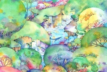 watercolor  Illustration / watercolor, illustrations, ART, landscape, http://sakuma-drops.com