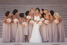 Nude/blush/cream/mink bridesmaids colour theme / Ideas for bridesmaids dresses and colours/styles