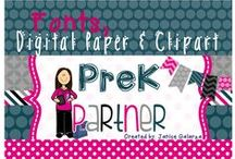 Fonts, Digital Paper & More / by PreK Partner Janice Galarza