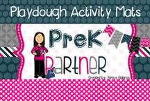 Playdough Activitiy Mats / Playdough is a staple items in most classrooms. Combine the playdough with these activity mats for a memorable and educational experience