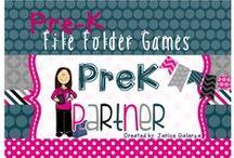 Pre-K File Folder Games