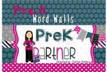 Pre-K Word Walls