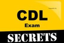 CDL Exam Study Resources / A collection of CDL test study aids to help prepare for the CDL test. Practice questions, flashcards, and a study guide that can help on the test. / by Test Prep Review