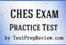 CHES Exam Study Resources / A collection of CHES test study aids to help prepare for the CHES test. Practice questions, flashcards, and a study guide that can help on the test. / by Test Prep Review