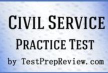 Civil Service Exam Study Resources / A collection of Civil Service test study aids to help prepare for the Civil Service test. Practice questions, flashcards, and a study guide that can help on the test. / by Test Prep Review