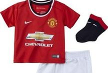Manchester United Baby Clothes / A range of official baby clothes for Manchester United to suit all ages from new born up to 18-23 months, please visit http://www.soccerbox.com/manchester-united-football-shirts/baby-wear/ to see our full range.