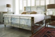 Mirrored and Metal Beds / Simon Horn's handmade beds are given a contemporary edge with glamorous mirrored panels and innovative Electroform metal finishes