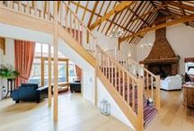 Wooden Beams in the home / Stone built homes, wooden beams in homes and brickwork on display.