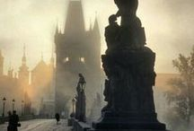 PHOTOGRAPHY: Prague in the Fog / Don't you just love the fog? There is no place more beautiful than Prague and the Charles Bridge when this happens... Purely Magic!