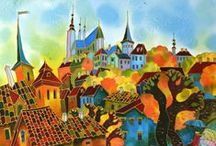 ART: Prague In Art / Oil, watercolor, pen, pencil - no matter what your medium, Prague is one of the most beautiful cities in the world. It's no wonder all of these artists were inspired!