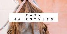 Easy Hairstyles / Half up half down bun