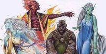 RPG - elemental races - ghenasi, triton, mermaid, dryad, nymph ect