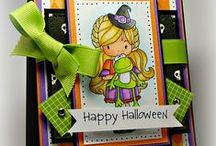 Cards_Halloween / Halloween theme cards made using Whimsie Doodles digital stamps