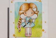 Cards_Tooth Fairy / Tooth Fairy theme cards made using Whimsie Doodles Clear Stamps