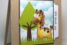 Cards_Zoo-pendous / Zoo  theme cards made using Whimsie Doodles Clear Stamps