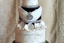 BLACK & WHITE WEDDING CAKES / by Anna Floresca Bedell