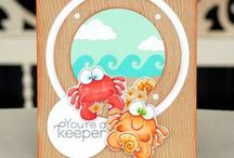 Cards_Summer/Beach / Summer theme cards made using Whimsie Doodles digital stamps
