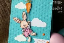 Cards_Easter / Easter theme cards made using Whimsie Doodles digital stamps
