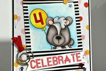 Cards_Birthday / Birthday theme cards made using Whimsie Doodles digital stamps