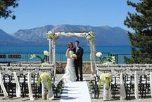 Lake Tahoe Wedding Sites. / Perfect spots for Lake Tahoe  Wedding. Everything from very formal to beach weddings ceremony cites.