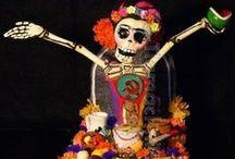 *DIA*DE*LOS*MUERTOS* / Mexican holidays -  Nov.1 - dia de los angelitios (day of the little angels) &         Nov.2 - dia de los muertos (day of the dead) / by shari abshire