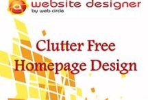 Clutter FreeHomepage Design