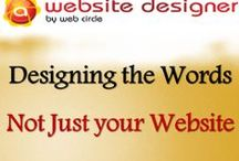 Designing the Words Not Just your Website / When we think of a well-designed website, most of us think about simply how the site looks. But, looks aren't everything, especially in the world of web. That's not to say a good looking website goes unnoticed though, there needs to be a little bait to spark our attention initially and entice us to keep looking.