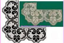 Crochet  borders, inserts, crochet patterns,etc / Various edgings, borders, corners, crochet patterns, crochet techniques, tutorials, etc.