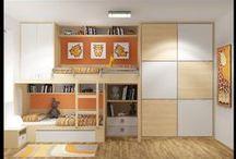 Pokojíček / Až bude první dítko větší, přibude snad ještě sourozzenec a bude potřeba vybudovat v našem paneláčku pokoj pro dva.