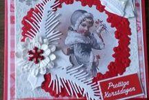 Mijn Kerstkaarten / Christmas cards / Eigengemaakte kerstkaarten