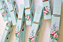 Klemmer/clothespins / Dekoration af klemmer.