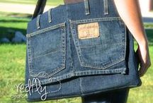 Upcycled old jeans