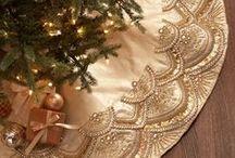 Christmas tree skirts/Juletræstæpper/ / table runners