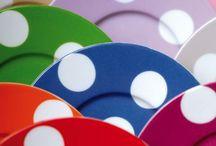 painel de inspiração polka dots