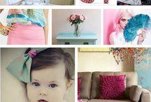 Painel azul + rosa