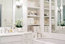 Beautiful Bath Storage and Display / Storage ideas that double as display/art