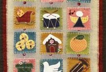 Advent Calendars || Appique Patterns / Quilted wall hanging patterns for advent calendars using fusible applique method.