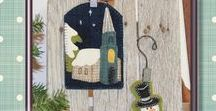 Christmas Applique Designs / Small quilted wall hanging patterns for Christmas.  These are quick one-day projects that are perfect for beginner quilters and those that love to applique.