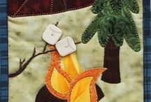 Cabin & Woodsy Applique Pattern Designs / These are perfect one day projects for applique lovers and beginner quilters.  These cabin and woodsy themed quilts will be perfect to put a little nature indoors.