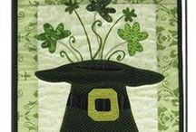 Irish Luck & St Pat's Day || Beginner Friendly Applique Patterns / Small, beginner friendly quilted wall hanging patterns with an Irish, luck, Saint Patrick's day theme. Designs feature fusible applique technique, making them fast, simple, one day projects.