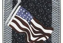 Patriotism at it's Best || Beginner Friendly Applique Patterns / Small, beginner friendly quilted wall hanging patterns with a July 4th (Independence Day) and Canada themes. Designs feature fusible applique technique, making them fast, simple, one day projects.