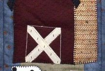 Farming & Ranching ||  Beginner Friendly Applique Patterns / Cowboy, hunting, rodeo themed small quilted wall hanging patterns.  These are perfect for those who are beginner quilters and applique lovers!  These are quick and easy patterns that can be finished in one day.