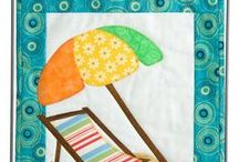 Sand Beaches & Flamingos || Beginner Friendly Applique Patterns / Small, beginner friendly quilted wall hanging patterns with a beach and seashore theme. Designs feature fusible applique technique, making them fast, simple, one day projects.