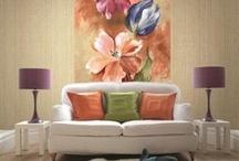 Kwiatowa kolekcja tapet firmy Wallquest - Villa Siena / Nadeszła wiosna, a z nią wszystko budzi się do życia:) Poniższe aranżacje na pewno spodobają się wszystkim, którzy z niecierpliwością oczekiwali nadejścia tej jednej z najpiękniejszych pór roku.