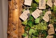 Enchanted Forest Wedding Inspiration / mint green, brown toned, with a touch of sparkle