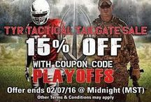TYR Tactical® ON SALE / Check out our current Special Offers. Take 15% Off your retail purchase with coupon code: PLAYOFFS  Expires: 7-Feb-16