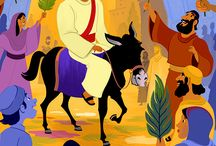 "Jesus' Triumphal Entry (Palm Sunday) Bible Activities / Just a few days before he was crucified, Jesus and his disciples approached Jerusalem. Jesus rode into the city on a donkey as the people, including children, waved palm branches and shouted, ""Hosanna!"" This joyous welcome is the subject of these Bible activities for children and will help kids understand that Jesus is the King of kings and is worthy of our praise."